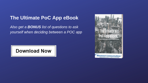 PoC App Download CTA