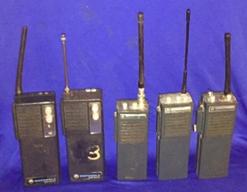 5 Old Motorola Two-Way Radios